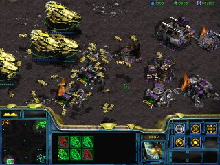 Starcraft -- some of my Carriers attacking :)